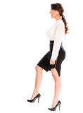 Business woman stepping up Royalty Free Stock Photo