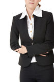 Business woman with stomach Stock Photo