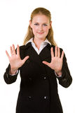 Business woman stop Stock Image