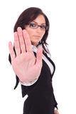 Business woman stopping you Royalty Free Stock Image