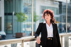 Business woman in street Stock Images