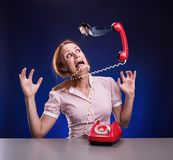 Business woman in stress Royalty Free Stock Photography