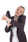 Business woman in stress Royalty Free Stock Photos