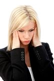 Business woman stressed Stock Photography