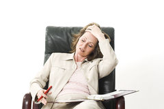 Business woman stressed Stock Image