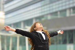 Business woman stretch oneself Royalty Free Stock Photography