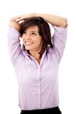 Business woman stretching Stock Images