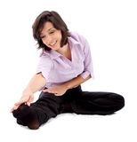 Business woman stretching Stock Photography