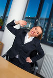 Business woman stretching Stock Photos