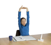 Business woman stretching during work Stock Image