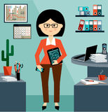 Business Woman in the style flat design Stock Photos
