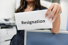 Business woman submitted the Resignation letter Stock Photography