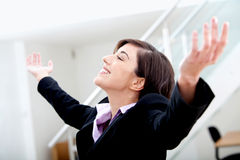 Business woman success Stock Images
