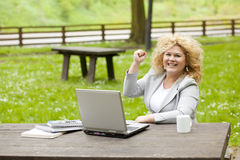 Business woman in success Royalty Free Stock Photos