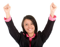 Business woman - success Royalty Free Stock Photos