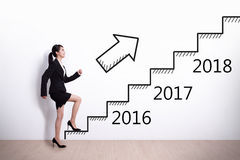 Business woman success in new year Royalty Free Stock Photos