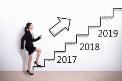 Business woman success in new year Royalty Free Stock Photography