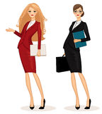 Business woman. Successful business woman set vector illustration Royalty Free Stock Images