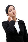 Business woman suffering from neck pain Stock Images
