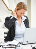 Business woman suffering from pain Royalty Free Stock Photos