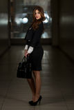 Business Woman In Suit At The Shopping Mall Royalty Free Stock Image