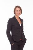 Business woman in suit on white Stock Image