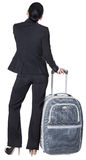Business woman with a suitcase Royalty Free Stock Photo