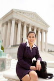 Business woman at Supreme Court Stock Photo
