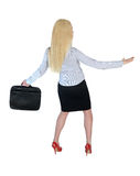 Business woman surf position Stock Photos