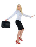 Business woman surf position Royalty Free Stock Image
