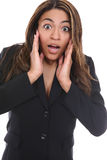Business Woman Surprise Stock Photography