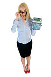 Business woman surprised Stock Photo