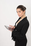 Business woman  with the tablet Stock Image