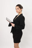 Business woman  with the tablet Stock Photography