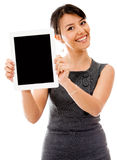 Business woman with a tablet computer Royalty Free Stock Photo