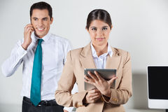 Business woman with tablet computer Stock Photo