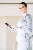 Business woman with tablet pc Royalty Free Stock Photography