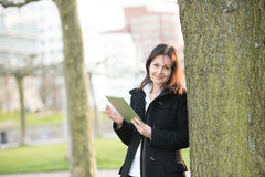 Business woman with tablet pc Stock Photos