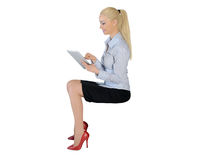 Business woman with tablet pc Stock Image