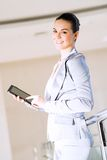 Business woman with tablet pc Royalty Free Stock Photo