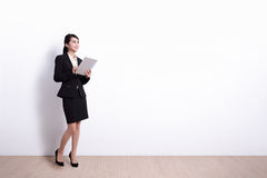 Business Woman with tablet pc Royalty Free Stock Images