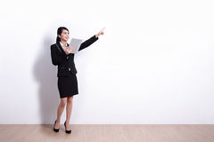 Business Woman with tablet pc Stock Images