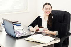 Business woman take a coffee break Royalty Free Stock Photos