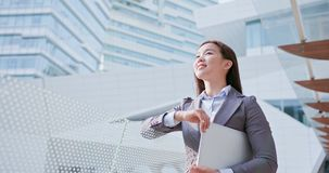 Business woman look somewhere royalty free stock images