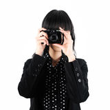 Business Woman Take a Photo with Digital Camera Royalty Free Stock Photos