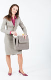 Business woman taking documents from case Stock Photography