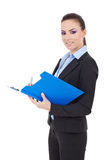 Business woman taking notes Stock Photography