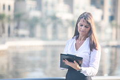 Business woman taking notes. Professional business woman taking notes Royalty Free Stock Photos