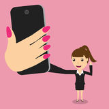 Business woman taking self portrait selfie photo Stock Photos