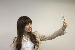 Business woman taking selfie Royalty Free Stock Photos